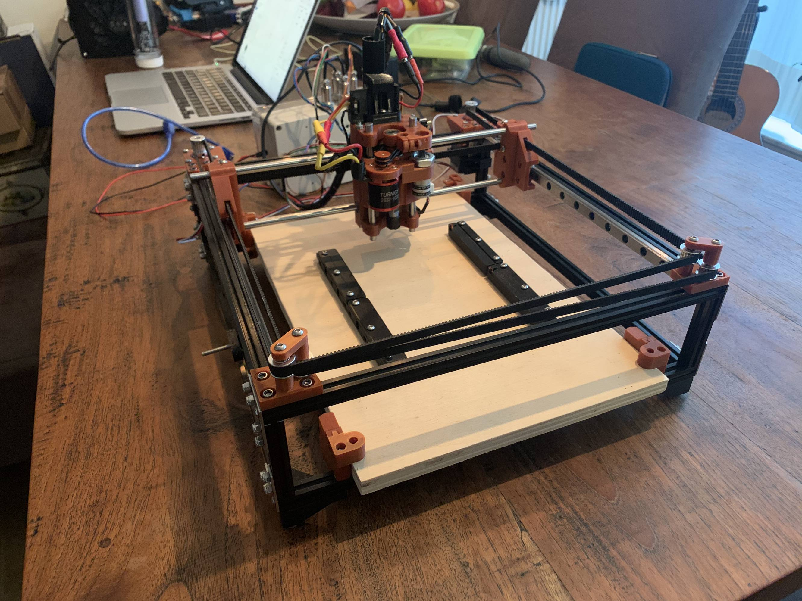 Work in progress of the Ant PCB Maker build